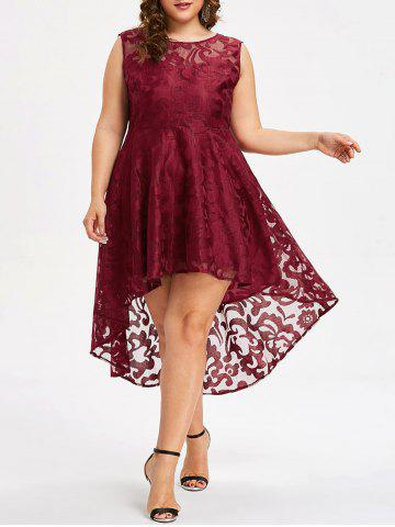 Outfits Plus Size High Low Lace Dress