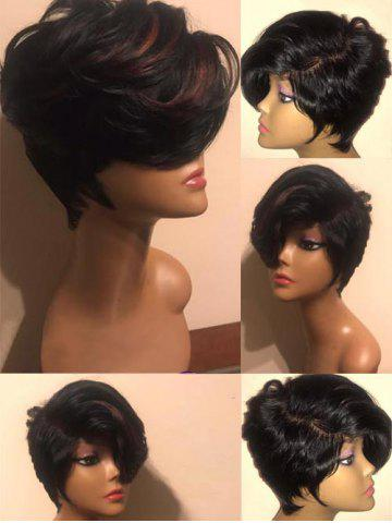 Shops Short Side Bang Highlighted Straight Synthetic Wig