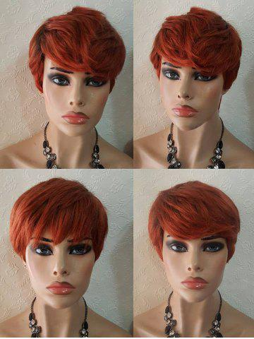 Sale Short Side Bang Layered Straight Party Synthetic Wig