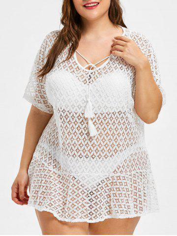 Sale Lace Plus Size See Through Cover Up