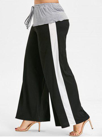 Affordable Layered Plus Size Wide Leg Pants
