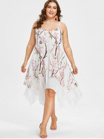 Plus Size Flower Handkerchief Dress