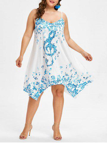 Shop Plus Size Musical Notes Handkerchief Dress