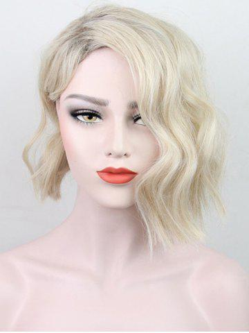 Short Side Bang Colormix Natural Wavy Synthetic Wig ff91de8c7722