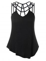 Plus Size V-neck Strappy Tank Top -