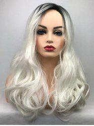 Long Side Bang Wavy Colormix Synthetic Party Wig -