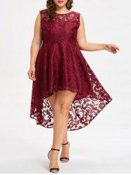 Plus Size High Low Lace Dress -