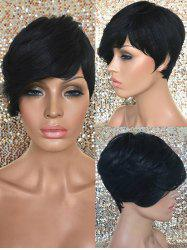 Short Oblique Fringe Straight Synthetic Wig -
