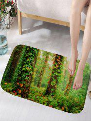 Leaves Forest Print Floor Rug -