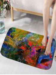 Spray Paint Splatter Multi Color Graffiti Graphic Floor Rug -