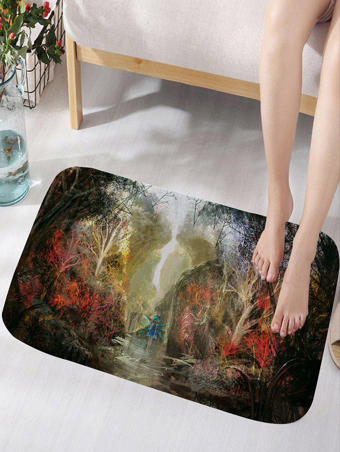Fashion Dreaming Forest and Fairy Print Floor Rug