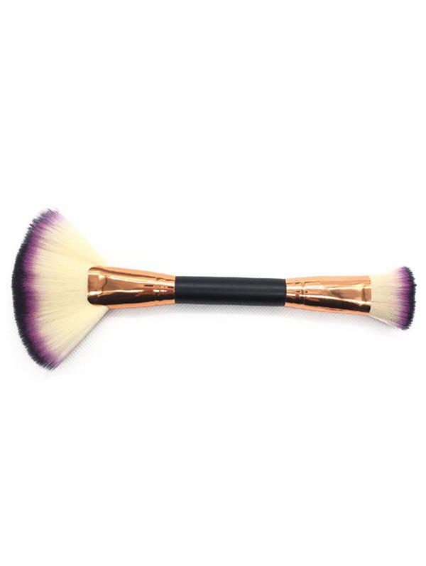 Unique Professional Dual Used Fan Shape and Foundation Brush