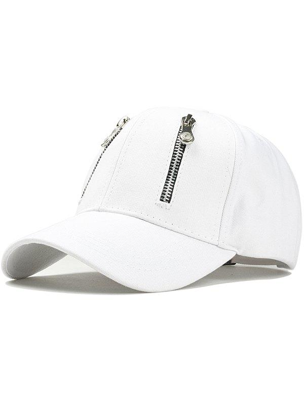 Fashion Punk Double Zippers Graphic Hat
