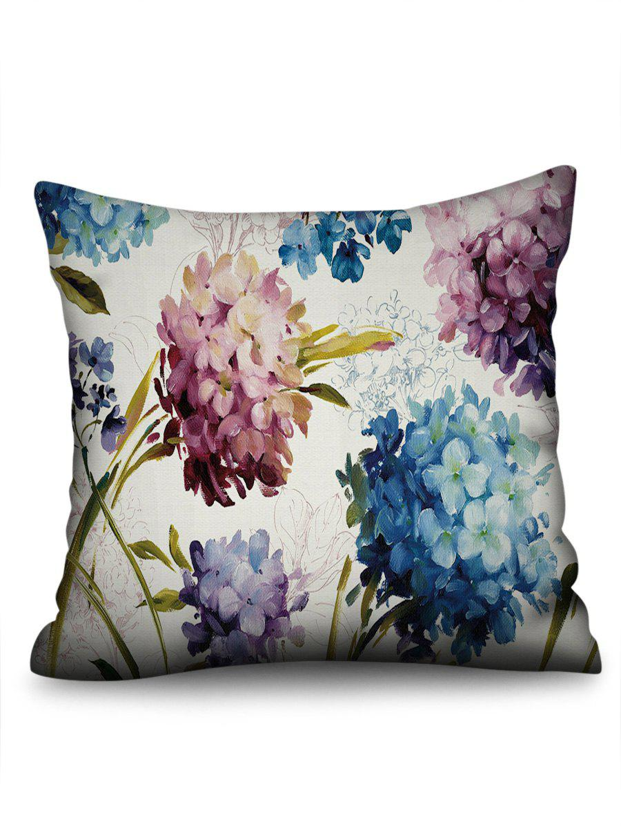 Discount Painting Hydrangea in Oil Print Pillowcase
