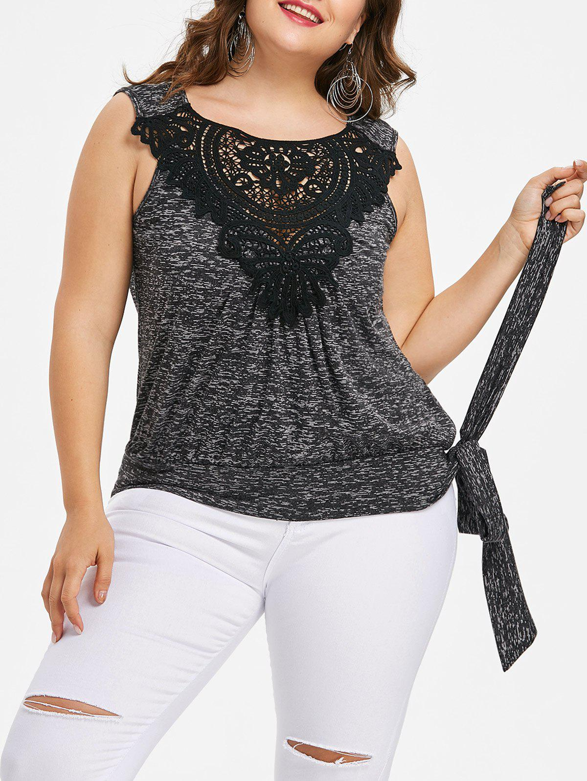 Discount Plus Size Tie Side Tank Top
