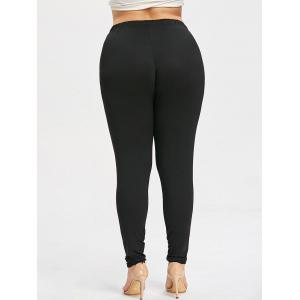 Plus Size Ripped High Waisted Leggings -