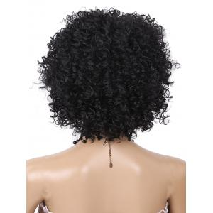 Short Neat Bang Fluffy kinky Curly Synthetic Wig -