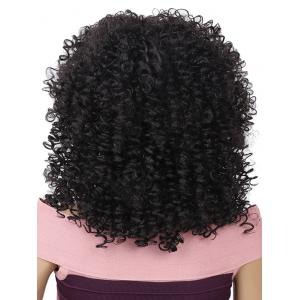 Fluffy Medium Afro Kinky Curly Synthetic Wig -
