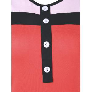 Button Fitted Ringer Tank Top -