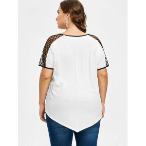 Plus Size Lattice Cut Tunic T-shirt -