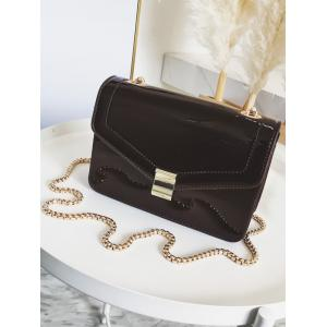 Minimalist Metal Chain Crossbody Bag -