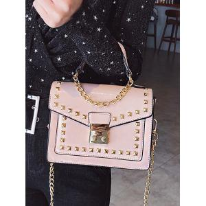 Chic Daily Shopping Rivets Crossbody Bag -