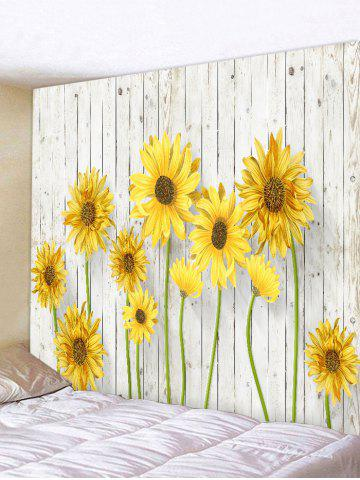 Yellow W79 Inch * L59 Inch Sunflower Pattern Wall Decor Tapestry ...