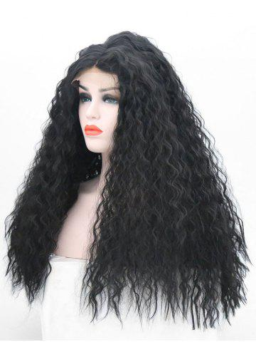 Hot Long Center Parting Shaggy Corn Hot Wave Lace Front Synthetic Wig