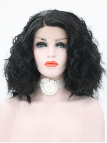 Store Medium Side Parting Wavy Lace Front Synthetic Wig