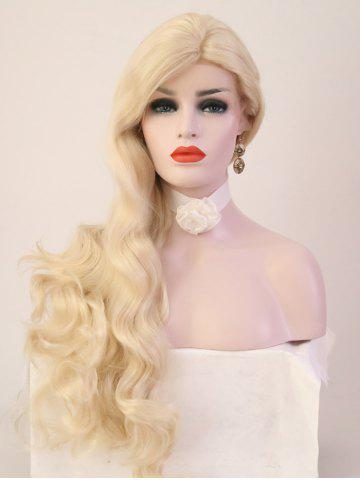 Latest Long Side Bang Loose Wave Party Synthetic Lace Front Wig
