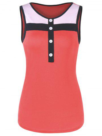 Hot Button Fitted Ringer Tank Top