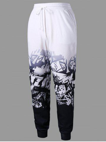Trendy High Waist Printed Track Pants