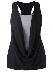 Plus Size Cowl Front Tank Top -