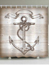 Anchor Print Waterproof Bathroom Shower Curtain -