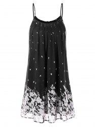 Floral Print Chiffon Cami Dress -