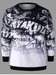 3D Printed Graphic Sweatshirt -