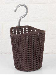 Metal Hook Cylinder Bath Storage Basket -