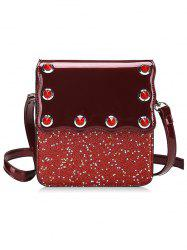 Flap Glitters PU Leather Crossbody Bag -