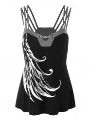 Plus Size Graphic Strappy Tank Top -