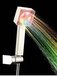 Changing LED Lights Square Top Shower Head -
