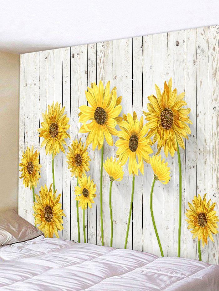 Trendy Sunflower Pattern Wall Decor Tapestry