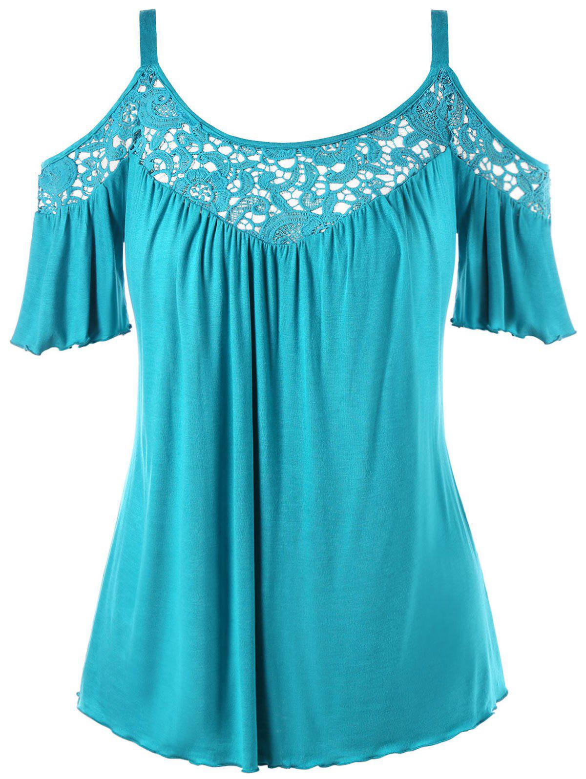 Outfits Cold Shoulder Plus Size Half Sleeve Blouse