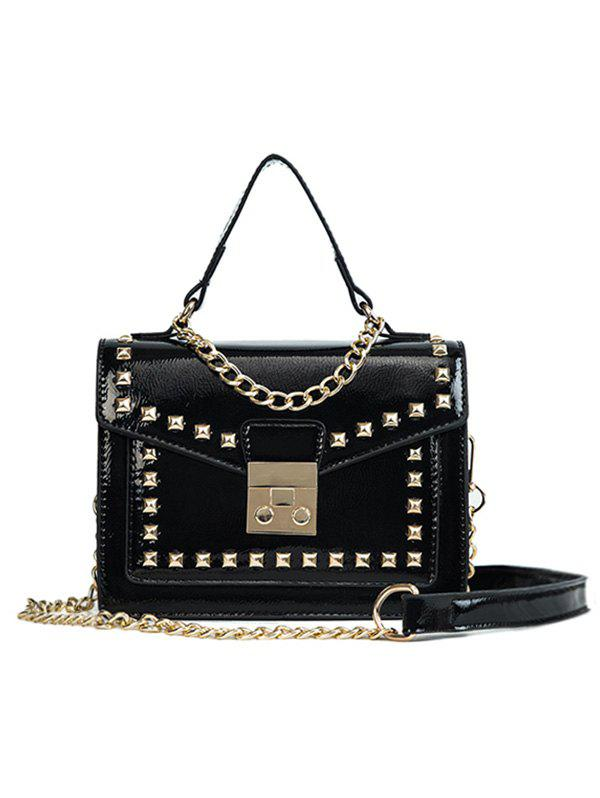 Shops Chic Daily Shopping Rivets Crossbody Bag