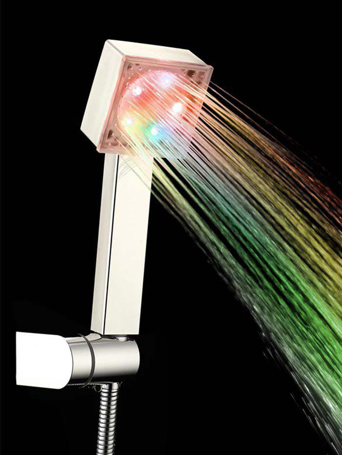 Affordable Changing LED Lights Square Top Shower Head