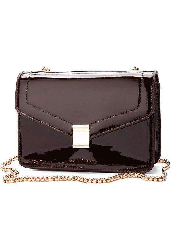Outfit Minimalist Metal Chain Crossbody Bag