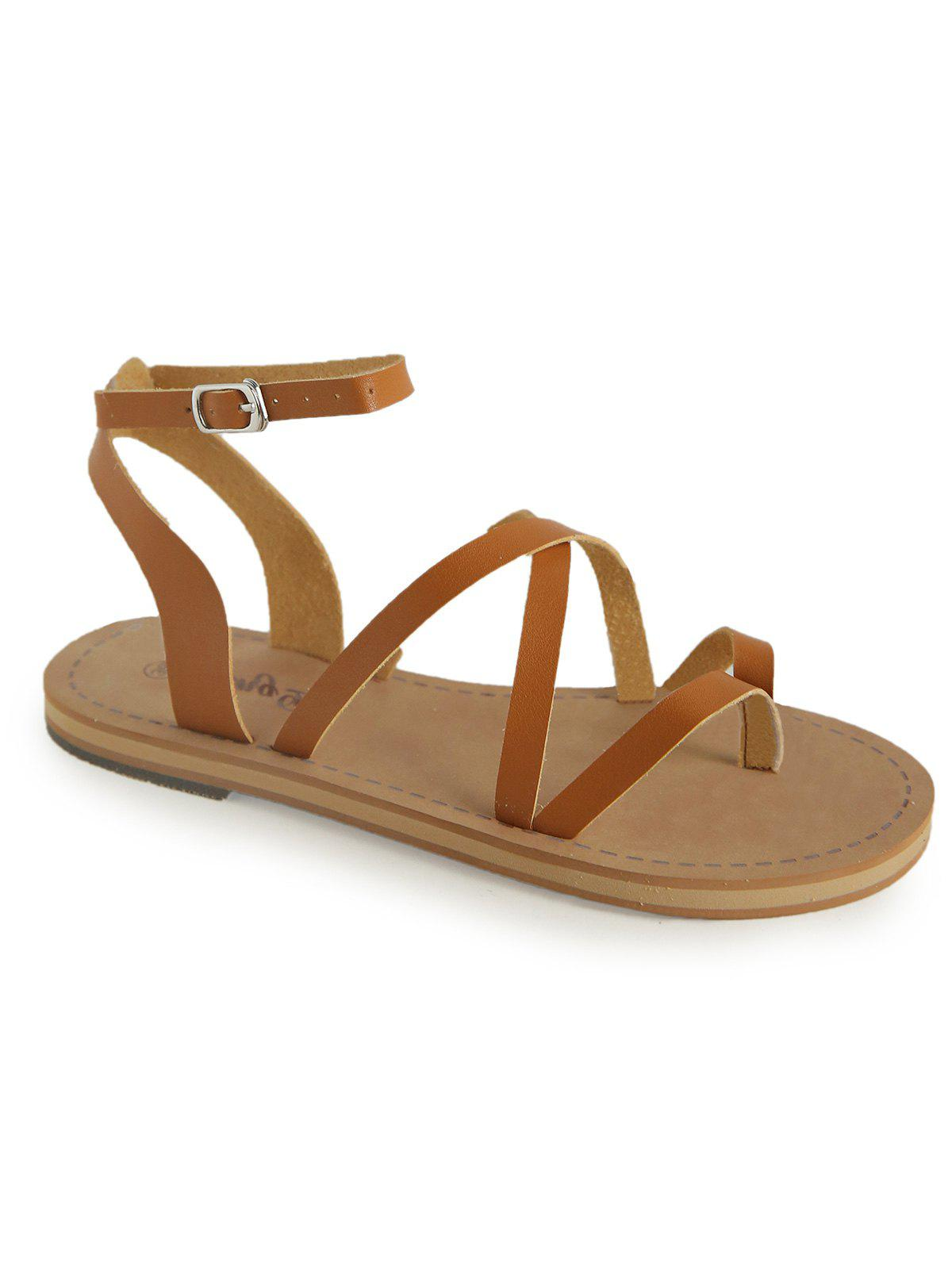 Store Casual Holiday Ankle Strap Thong Sandals