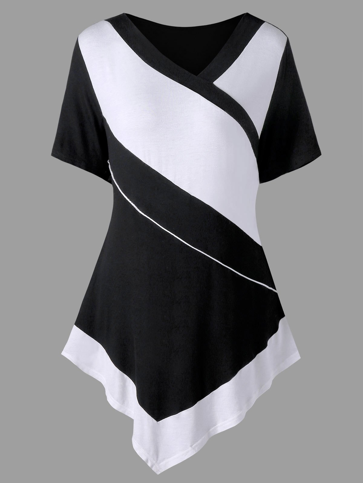 Best Plus Size Two Tone Tunic T-shirt