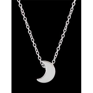 Alloy Moon Pendant Chain Necklace -