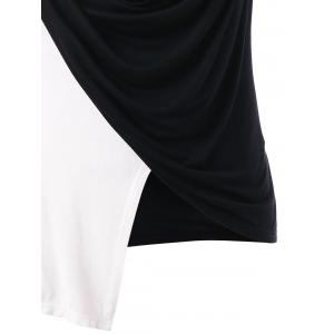 Plus Size Cowl Neck Asymmetric Tank Top -