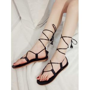 Flat Heel Tassels Casual Holiday Thong Sandals -